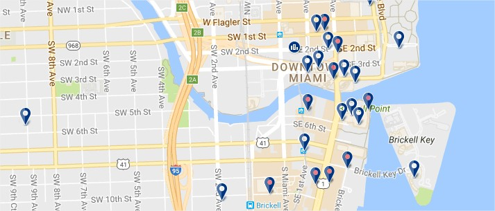 Downtown Miami - Click to see all hotels on a map