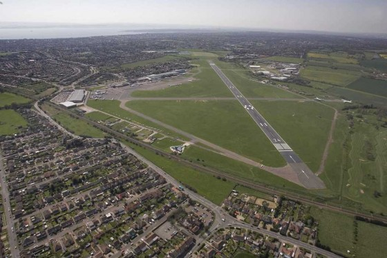 Vista aérea del London-Southend Airport