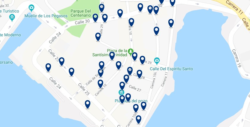 Cartagena - Getsemaní - Click to see all hotels on a map