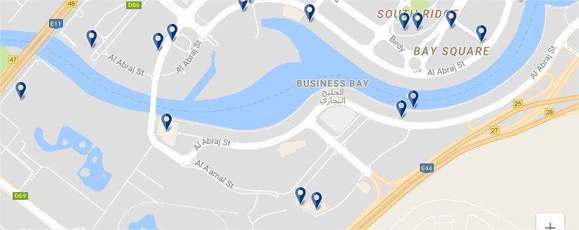 Dubai Business Bay - Click to see all hotels on a map (opens in a new tab)