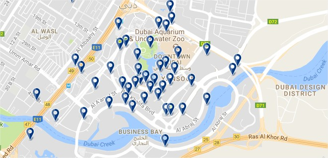 Dubai Downtown - Click to see all hotels on a map (opens in a new tab)