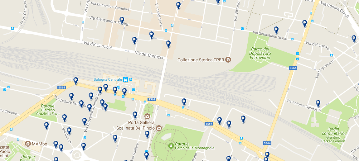 Bologna Centrale - Click to see all hotels on a map