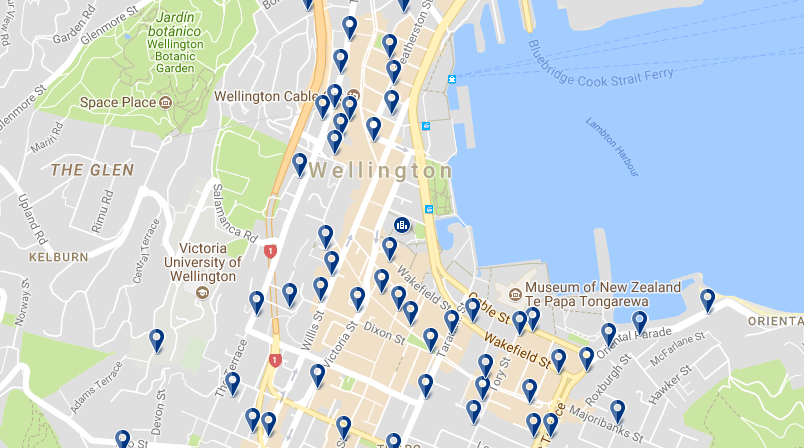 Wellington CBD - Click to see all hotels in this area on a map