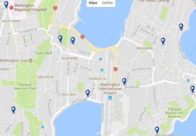 Wellington International Airport - Click to see all hotels in this area on a map