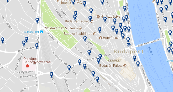 Budavár - Click to see all hotels on a map