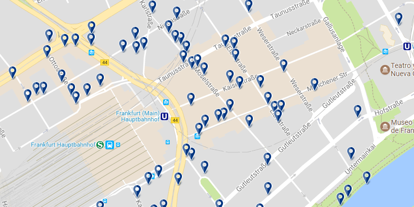 Frankfurt - Banhofviertel - Click to see all hotels on a map