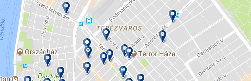 Terézváros - Click to see all hotels on a map