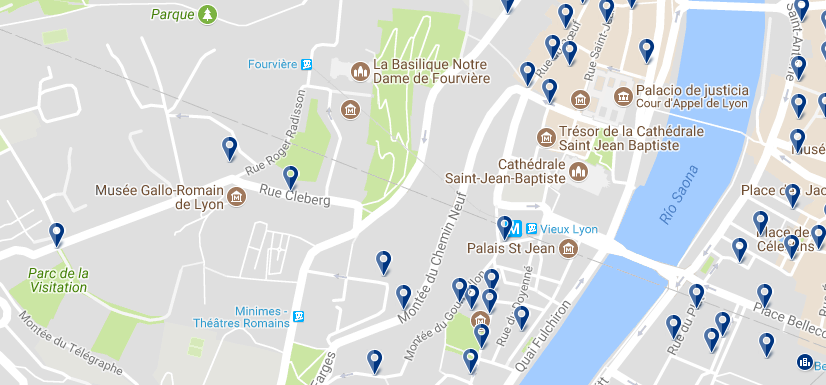 Vieux Lyon - Click to see all hotels on a map