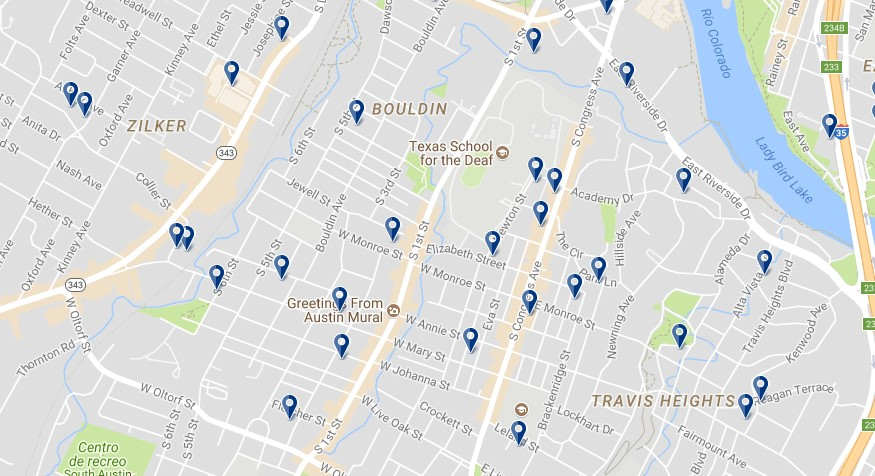 Austin South Congress - Click to see all hotels on a map