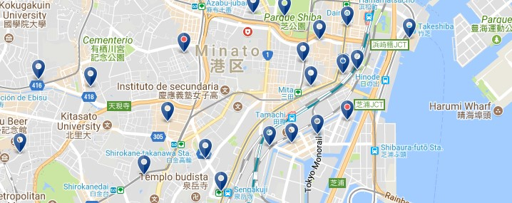 Tokyo - Minato - Click to see all hotels on a map