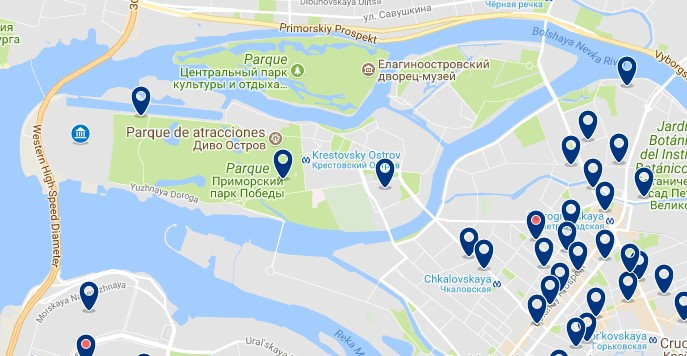 Saint Petersburg Stadium - Click to see all hotels on a map