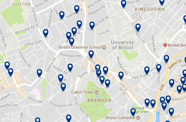 Bristol - Clifton - Click here to see all hotels on a map