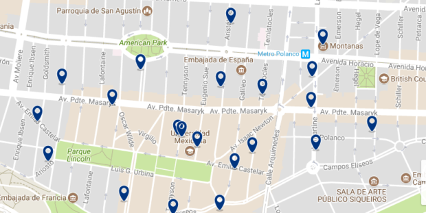 Mexico City - Polanco - Click here to see all hotels on a map