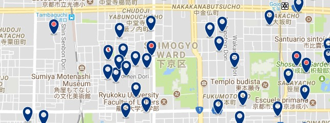 Kyoto - Shimogyo - Click to see all hotels on a map
