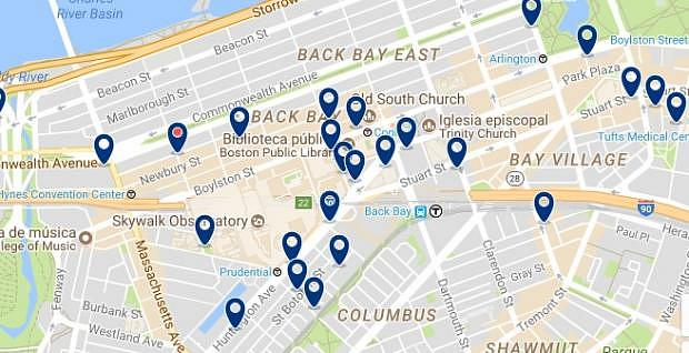 Boston - Back Bay - Click to see all hotels on a map