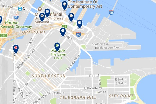 Boston - South Boston - Click to see all hotels on a map