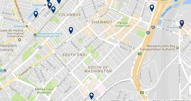 Boston - South End - Click to see all hotels on a map
