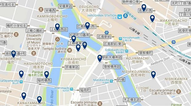 Hiroshima Station - Click to see all hotels on a map