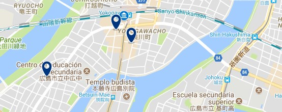 Hiroshima - Yokogawa - Click to see all hotels on a map