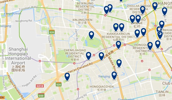Shanghai - Changning & Honqiao Airport - Click to see all hotels on a map