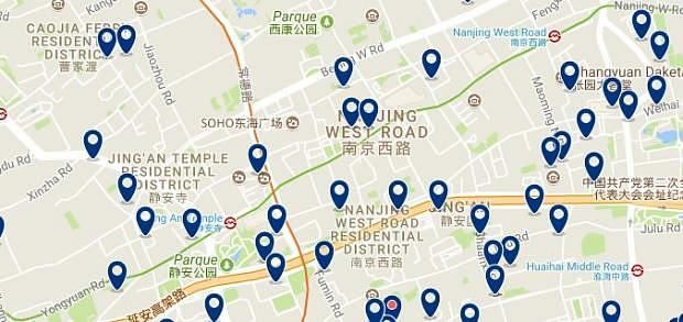 Shanghai - Jing'an & Zhabei - Click to see all hotels on a map