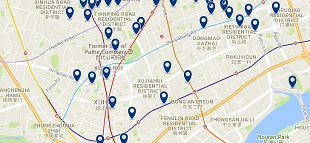 Shanghai - Xuhui - Click to see all hotels on a map