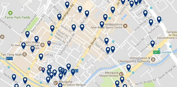 Singapore- Jalan Besar - Click to see all hotels on a map