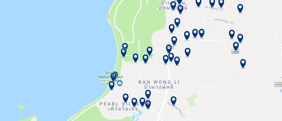 Phuket - Nai Yang Beach - Click to see all hotels on a map