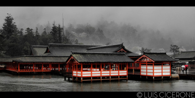 Foggy Floating Temple