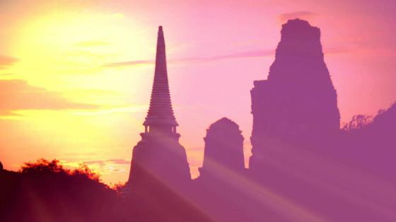 Sunset in Ayutthaya