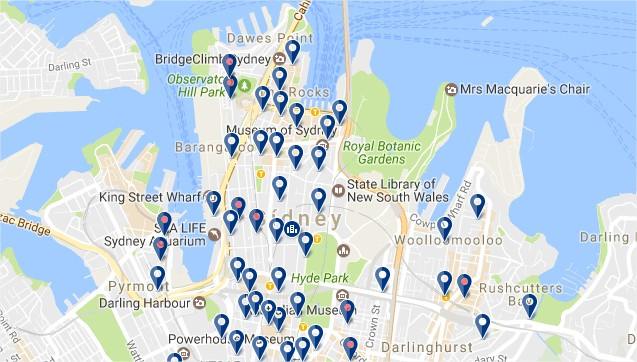 Sydney CBD - Click to see all hotels on a map