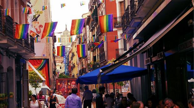 Chueca during Madrid Gay Pride - Best area for LGBT nightlife in Madrid