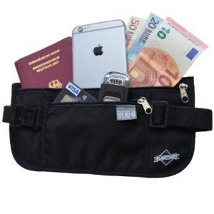 Riñonera para viajes con protección anti robo de identidad