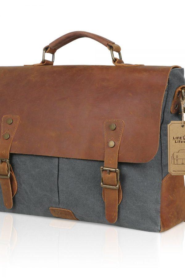 Mochila-maletín estilo vintage Lifewit