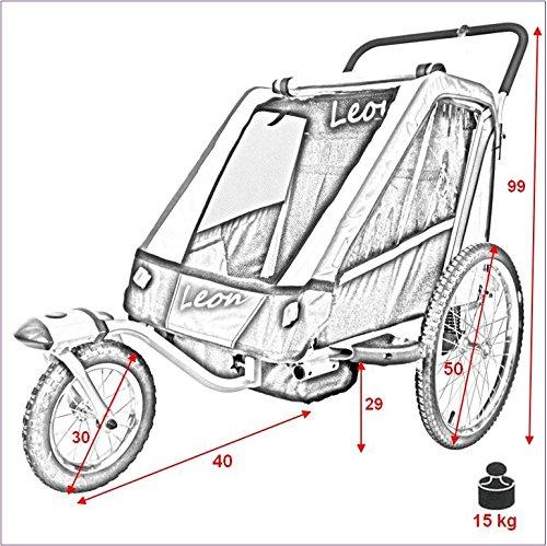 Remolque infantil para bicicletas Leon