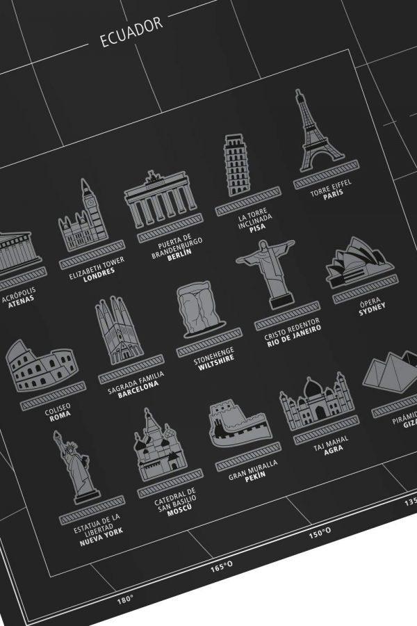 Mapa mundo para rascar benehacks