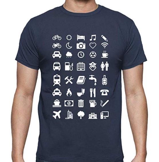 Camiseta con símbolos para viajes Latostadora