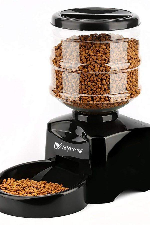 Dispensador de alimentos automático para mascotas isYoung