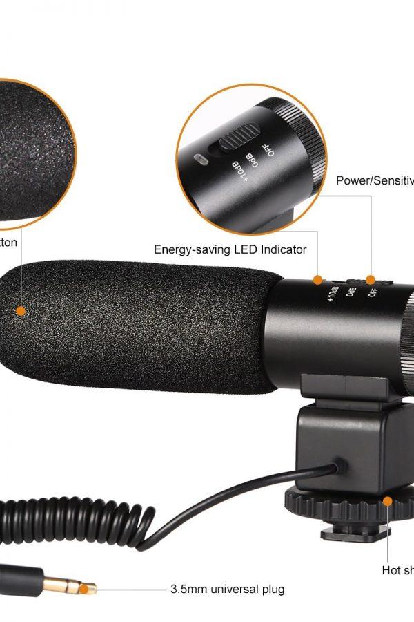 Micrófono direccional para camaras