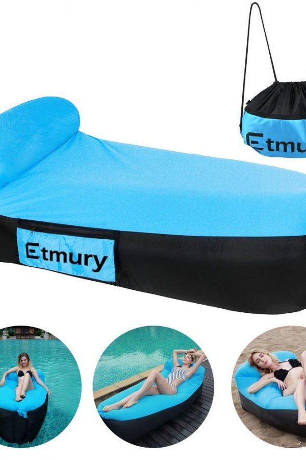 Hamaca inchable con almohada Etmury
