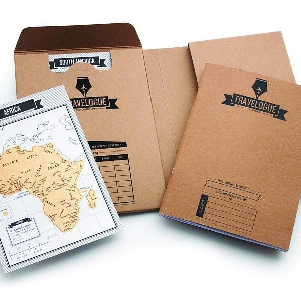 Diario de viaje con mini mapas para rascar Luckies of London