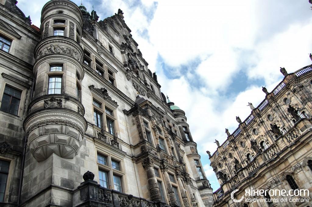 Dresde - edificaciones en el centro de la ciudad