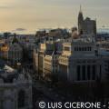 Vistas de la calle Alcalá y Gran Vía desde el Palacio Cibeles