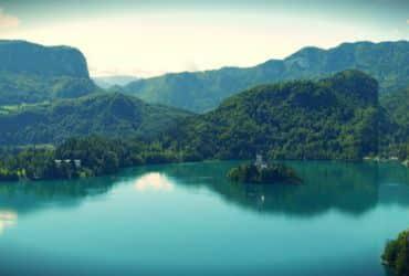 Panorámica del lago de Bled
