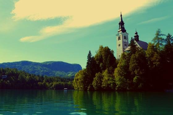 Iglesia de la isla de Bled