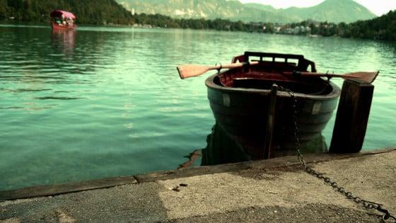 Lago de Bled desde la isla