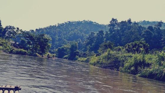 Slow rafting en balsa de bambú