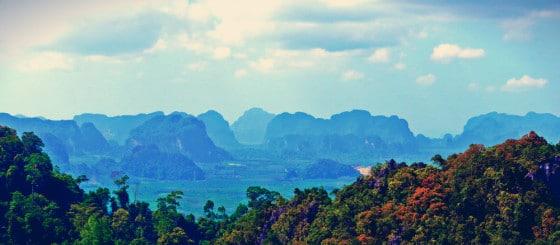 Vistas desde el Templo de la Cueva del Tigre, Krabi