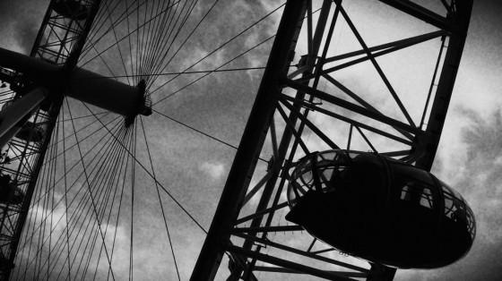 London Eye cuando llueve