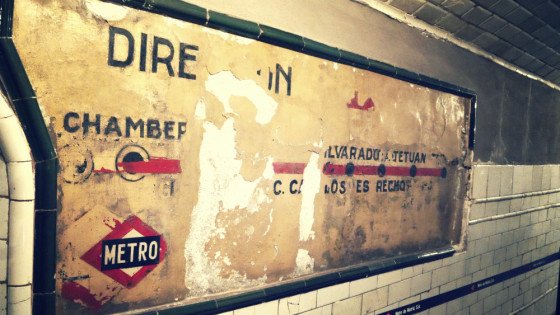 Old map from Metro de Madrid